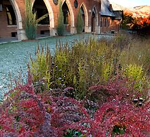 Fall colors at the church by Eivor Kuchta