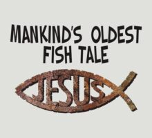 This fish tale is so old it's a fossil! by atheistcards