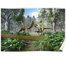 "Deinonychus ""terrible claw"" Poster"