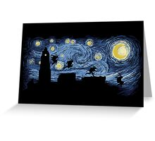 Starry Fight Greeting Card