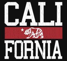 California Bear Flag (Distressed Design) by robotface