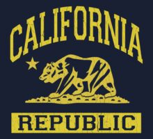 California Bear Republic (Vintage Distressed) by robotface