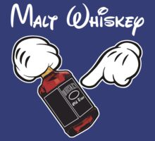 Funny Malt Whiskey Mickey Hands by robotface