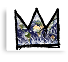 "Basquiat, ""King of The world"" Canvas Print"