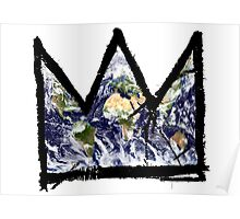 "Basquiat, ""King of The world"" Poster"