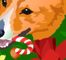 Merry Corgi Christmas Sticker