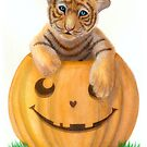 Halloween Tiger Cub  by Jujudraws