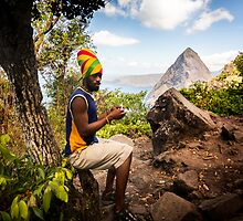 Smokin' Rasta: Hiking up the Pitons, St. Lucia by thewaxmuseum