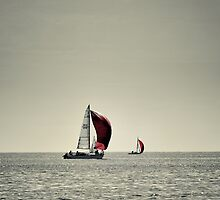 Sailing with my red sail by WendyPhilip