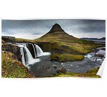Epic Adventure: Dawn at Kirkjufellfoss, Iceland Poster