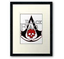 *NEW* ASSASSINS CREED, BLACK FLAG! EMBLEM AND SKULL. Framed Print