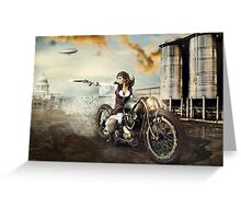 The Steampunk Warrior  Greeting Card