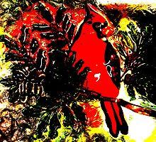 Christmas Cardinal by Hallowaltz