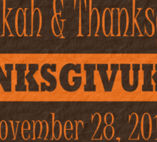 Thanksgiving meets Hanukkah Thanksgivukkah Sticker