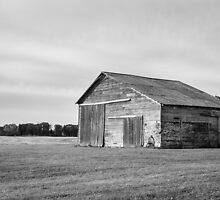 Old Brick and Wood Barn  by Mike Koenig