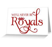 Lorde Inspired - Never Be Royals - Pop Music - Call Me Queen Bee Greeting Card