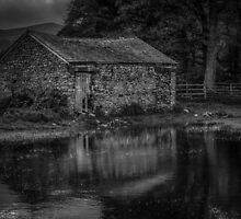 Barn in the Flooded Field by Alan E Taylor