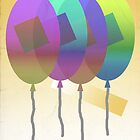 Balloons - Modern Abstract by FinlayMcNevin