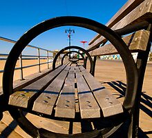 Coney Island Boardwalk Bench by Paul Tanner