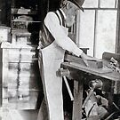 Cabinet Card: 19th Century Cabinet Maker  by toolemera