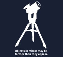 Objects in mirror (large, white) Kids Clothes