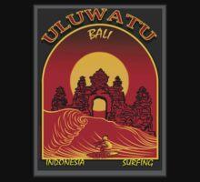 ULUWATU BALI SURFING by Larry Butterworth