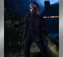 Silent Night Friday the 13th Holiday Card by hollie13