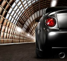 Black Car in a Tunnel art photo print by ArtNudePhotos