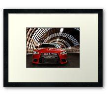 2008 Mitsubishi Lancer Evolution X art photo print Framed Print