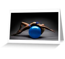Woman on a Ball Artistic Fitness Concept art photo print Greeting Card