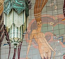 Avalon Casino entrance - mermaid mural by Celeste Mookherjee