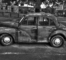 The Dalesford Moggie Minor BW by DavidsArt