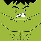 The Hulk (Cute Minimalistic Version) by charsheee