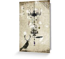 The Crow's Treasures Greeting Card