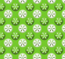 Circles in Green .. iPad case by LoneAngel