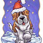 St. Bernard Christmas by Traci VanWagoner