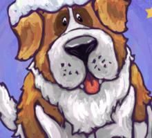 St. Bernard Christmas Sticker