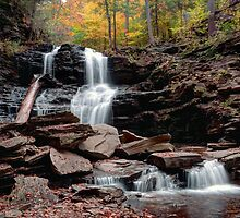 Shawnee Falls Beyond The Boulders by Gene Walls