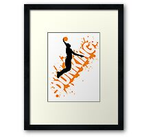Basketball: Dunking Framed Print