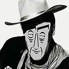 Typortraiture John Wayne by Seth  Weaver