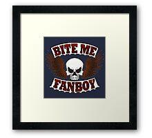 Bite Me Fanboy - Lobo Framed Print