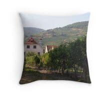 Vineyard near the Apricot stand, near the Danube, Wachau Austria Throw Pillow