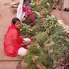 selling vegetables, Badami, Kanartaka, India by indiafrank