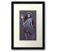 Mystery Mermaid Framed Print