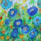 Blue Poppy Garden by Maria Pace-Wynters