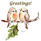 2 Little Birds - Season's Greetings! by Maree  Clarkson