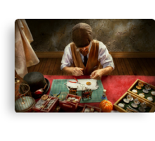 Clockmaker - A demonstration in Horology  Canvas Print