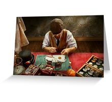Clockmaker - A demonstration in Horology  Greeting Card