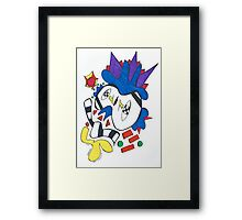 Blue Rooster Looking for Sun Framed Print