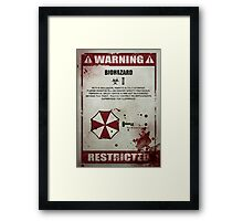 Biohazard Framed Print